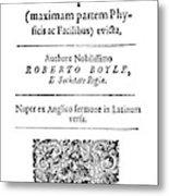Robert Boyle (1627-1691) Metal Print