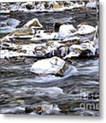 Winter Along Williams River Metal Print