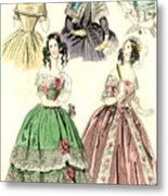 Women's Fashion, 1842 Metal Print