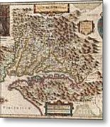 1630 Hondius Map Of Virginia And The Chesapeake Metal Print by Paul Fearn