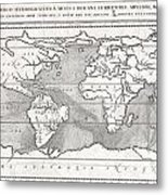 1665 Kircher Map Of The World  1665 Metal Print