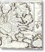 1690 Coronelli Map Of Ethiopia Abyssinia  And The Source Of The Blue Nile Geographicus Abissinia Cor Metal Print