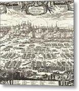 1697 Pufendorf View Of Krakow Cracow Poland Metal Print