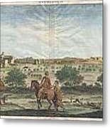 1698 De Bruijin View Of Bethlehem Palestine Israel Holy Land Geographicus Bethlehem Bruijn 1698 Metal Print