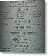 16th Infantry Regiment History Metal Print