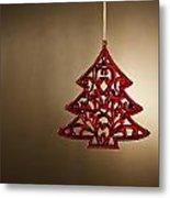 Christmas Tree Ornament  Metal Print