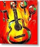 Guitar Metal Print by Mark Kazav