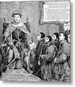 Henry Viii (1491-1547) Metal Print