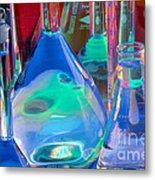 Laboratory Glassware Metal Print by Charlotte Raymond