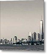 Manhattan Downtown Skyline Metal Print