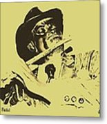 The Jazz Flutist Metal Print