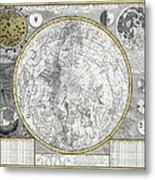 1700 Celestial Planisphere Metal Print