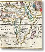 1710 De La Feuille Map Of Africa Metal Print