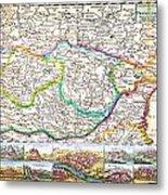 1710 De La Feuille Map Of Transylvania And Moldova Metal Print