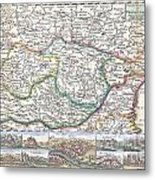 1710 De La Feuille Map Of Transylvania  Moldova Metal Print