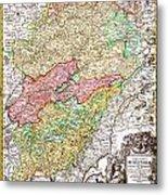 1716 Homann Map Of Burgundy France Geographicus Burgundiae Homan 1716 Metal Print