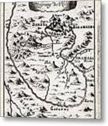 1719 Mallet Map Of The Source Of The Nile Ethiopia Abyssinia Geographicus Nil Mallet 1719 Metal Print