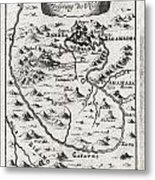 1719 Mallet Map Of The Source Of The Nile Ethiopia Metal Print by Paul Fearn