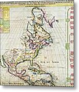 1720 Chatelain Map Of North America Geographicus Amerique Chatelain 1720 Metal Print