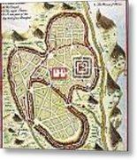 1730 Street Map Or Plan Of Jerusalem Geographicus Jerusalem Uk 1730 Metal Print