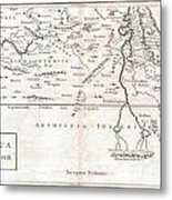 1730 Toms Map Of Central Africa Metal Print