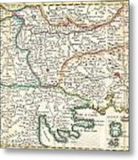 1738 Ratelband Map Of The Balkans Metal Print