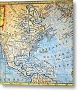 1747 Bowen Map Of North America Geographicus Northamerica Bowen 1747 Metal Print