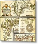1747 Bowen Map Of The North Atlantic Islands Greenland Iceland Faroe Islands Maelstrom Geographicus  Metal Print