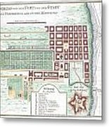 1750 Bellin Map Of Cape Town South Africa Metal Print