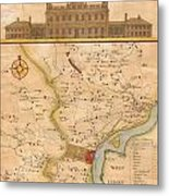 1752  Scull  Heap Map Of Philadelphia And Environs Metal Print