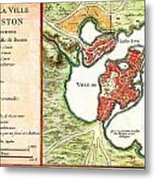 1756 Bellin Map Of Boston Massachusetts Geographicus Boston2 Bellin 1756 Metal Print