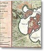 1756 Bellin Map Of Boston Massachusetts Metal Print