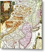 1756 Lotter Map Of Pennsylvania New Jersey New York Geographicus Pensylvanianovajersey Lotter 1756 Metal Print