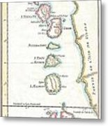 1760 Bellin Map Of The Moluques Metal Print