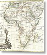 1762 Janvier Map Of Africa Metal Print