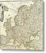 1762 Janvier Map Of Europe  Metal Print
