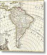 1762 Janvier Map Of South America  Metal Print