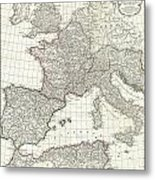 1763 Anville Map Of The Western Roman Empire Metal Print