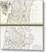 1763 De Lisle Map Of The Holy Land Metal Print