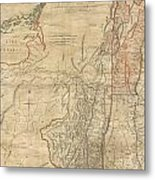 1768 Holland  Jeffreys Map Of New York And New Jersey  Metal Print