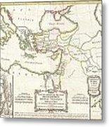 1771 Bonne Map Of The New Testament Lands Holy Land And Jerusalem Metal Print