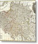 1771 Zannoni Map Of Poland And Lithuania Metal Print