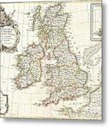 1771 Zannoni Map Of The British Isles  Metal Print