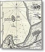 1773 Bellin Map Of The Cape Of Good Hope Capetown South Africa Metal Print