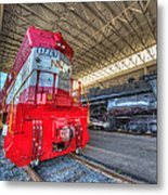 1776 And 1218 Locomotives Norfolk And Western Metal Print