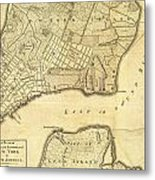 1776 New York City Map Metal Print