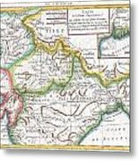 1780 Raynal And Bonne Map Of Northern India Metal Print