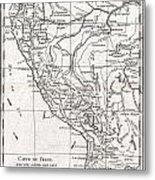 1780 Raynal And Bonne Map Of Peru Metal Print