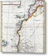 1780 Raynal And Bonne Map Of Western Africa Metal Print