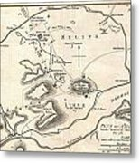 1784 Bocage Map Of Athens Greece Metal Print
